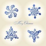 Decoração do vintage dos flocos de neve do Natal Imagens de Stock Royalty Free