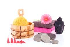 Decoração do Wellness com Budha Foto de Stock