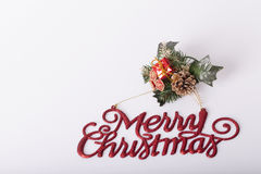 Decoração dos anos novos e do Natal Fotos de Stock Royalty Free