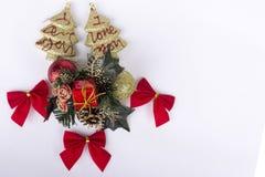 Decoração dos anos novos e do Natal Foto de Stock Royalty Free