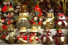 Decoração dos bonecos de neve Foto de Stock Royalty Free