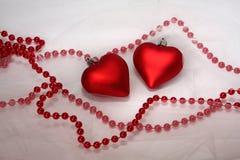 Decoração dos corações do Natal Foto de Stock Royalty Free