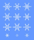 Decoração dos flocos de neve Imagens de Stock Royalty Free