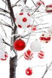 Decoração dos ornamento dos baubles do Natal Fotos de Stock