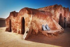 Decoração dos Star Wars no deserto de Sahara Fotos de Stock Royalty Free