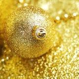 Decoração dourada do Natal Imagens de Stock Royalty Free