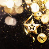 Decoração dourada do Natal ilustração royalty free