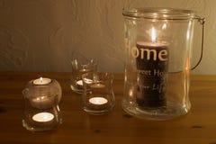 Decoração e candlellight Fotografia de Stock Royalty Free