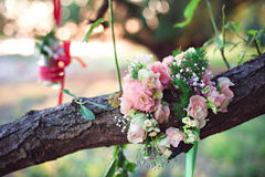 Decoração e grinalda da flor Fotografia de Stock