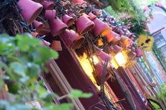 Decoração e luzes do Natal Foto de Stock Royalty Free