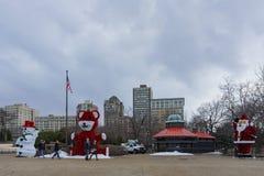 Decoração e quiosque do Natal na praia Foto de Stock Royalty Free