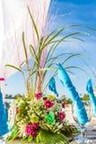 Decoração e utensílios de mesa da tabela do casamento Imagens de Stock Royalty Free