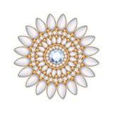 Decoração elegante da joia do vetor de pedras preciosas Fotos de Stock Royalty Free