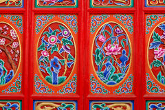 A decoração em uma porta Imagem de Stock Royalty Free