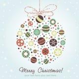 Decoração estilizado do Natal do projeto Imagem de Stock