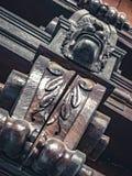 Decora??o exterior com o animal de madeira gravado imagens de stock