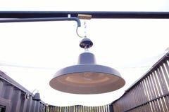Decoração exterior da lâmpada preta da cor Fotos de Stock Royalty Free