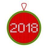 Decoração feita malha 2018 do Natal Fotografia de Stock