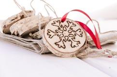 Decoração feito à mão do ornamento do Natal Foto de Stock Royalty Free