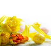 Decoração feliz dos ovos da páscoa Fotografia de Stock Royalty Free