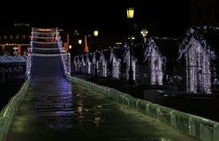 Decoração festiva das ruas em Moscou Imagens de Stock