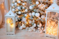Decoração festiva do Natal foto de stock
