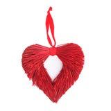 Decoração festiva vermelha da porta do Natal do coração (Xmas) foto de stock
