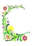 Decoração floral abstrata Fotografia de Stock