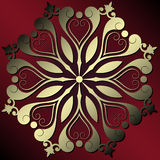 Decoração floral abstrata Imagens de Stock Royalty Free