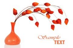 Decoração floral alaranjada foto de stock