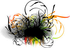 Decoração floral de Grunge Imagens de Stock Royalty Free