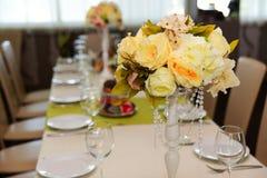 Decoração floral do casamento Fotografia de Stock