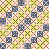 Decoração geométrica abstrata sem emenda no estilo egípcio Imagens de Stock Royalty Free