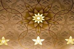Decoração grande da parede da mesquita Foto de Stock
