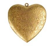 Decoração Heart-shaped velha foto de stock