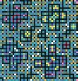 Decoração heterogéneo dos quadrados e dos retângulos Fotos de Stock Royalty Free