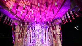 Decoração hindu indiana de Mandap do casamento video estoque