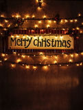 Decoração home do Natal fotografia de stock royalty free