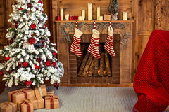 Decoração home do Natal Fotografia de Stock