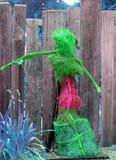 Decoração home figurativa do jardim fora do rosa verde Imagens de Stock