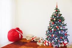 Decoração home pelo Natal e o ano novo Fotos de Stock Royalty Free