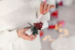 Decoração i do Natal fotografia de stock royalty free