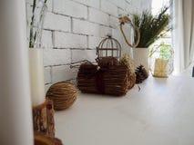Decoração interior chique gasto para uma casa da quinta Foto de Stock Royalty Free