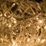 A decoração interior conduziu luzes com fiação Foto de Stock Royalty Free