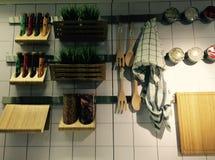 Decoração interior da cozinha Fotografia de Stock