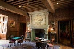 Decoração interior no castelo do Azay-le-Rideau Fotos de Stock