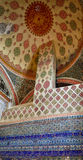 A decoração interior no palácio de Topkapi, Istambul, Turquia Fotografia de Stock Royalty Free