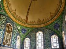 A decoração interior no palácio de Topkapi, Istambul, Turquia Foto de Stock