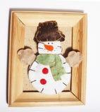 Decoração isolada, fundo branco para cumprimentos do cartão, projeto do Natal do brinquedo no macro da árvore, presentes sob Sant Fotos de Stock