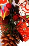 Decoração japonesa do inverno imagens de stock royalty free